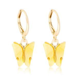 3/$20 New Yellow & Gold Butterfly Earrings